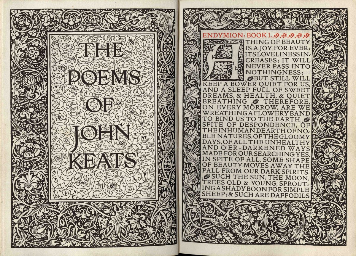 William Morris was born #onthisday in 1834. He founded Kelmscott Press in 1891 & designed many of his own typefaces https://t.co/pa3y5nE6lV