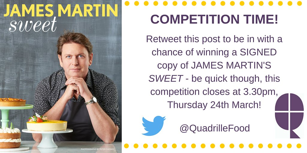 #competition time! #win this SIGNED @jamesmartinchef book - Kickstart #EasterWeekend & RT to enter by 3.30pm today https://t.co/YZ9TArkIF7