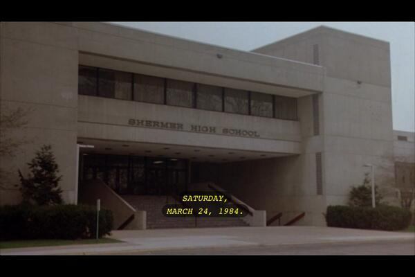 This date in 1984 is the date that 5 students spent their Saturday in detention in The Breakfast Club. #80s https://t.co/aFl88Q158p