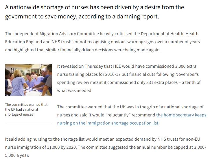 'Desire to save money' caused NHS nursing shortage says damning report https://t.co/vOShRXOttH https://t.co/L5Lfc3xtwF