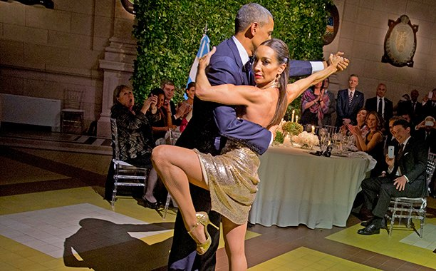 Barack Obama danced the tango at a state dinner in Buenos Aires: