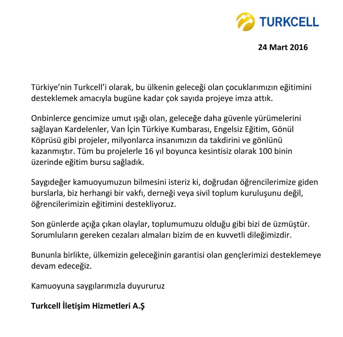 Turkcell'in içinde Ensar kelimesi geçmeyen Ensar Vakfı açıklaması. https://t.co/dlxEHSwVFX