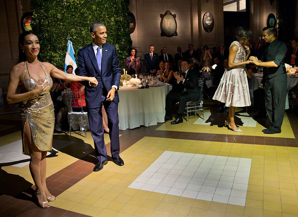 When in Argentina, Barack and Michelle Obama tango.