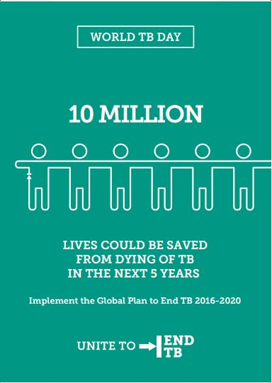 The world's most deadly infectious disease kills 3 people every minute, but is curable. #UnitetoEndTB #WorldTBDay https://t.co/r1SoLbR9WU