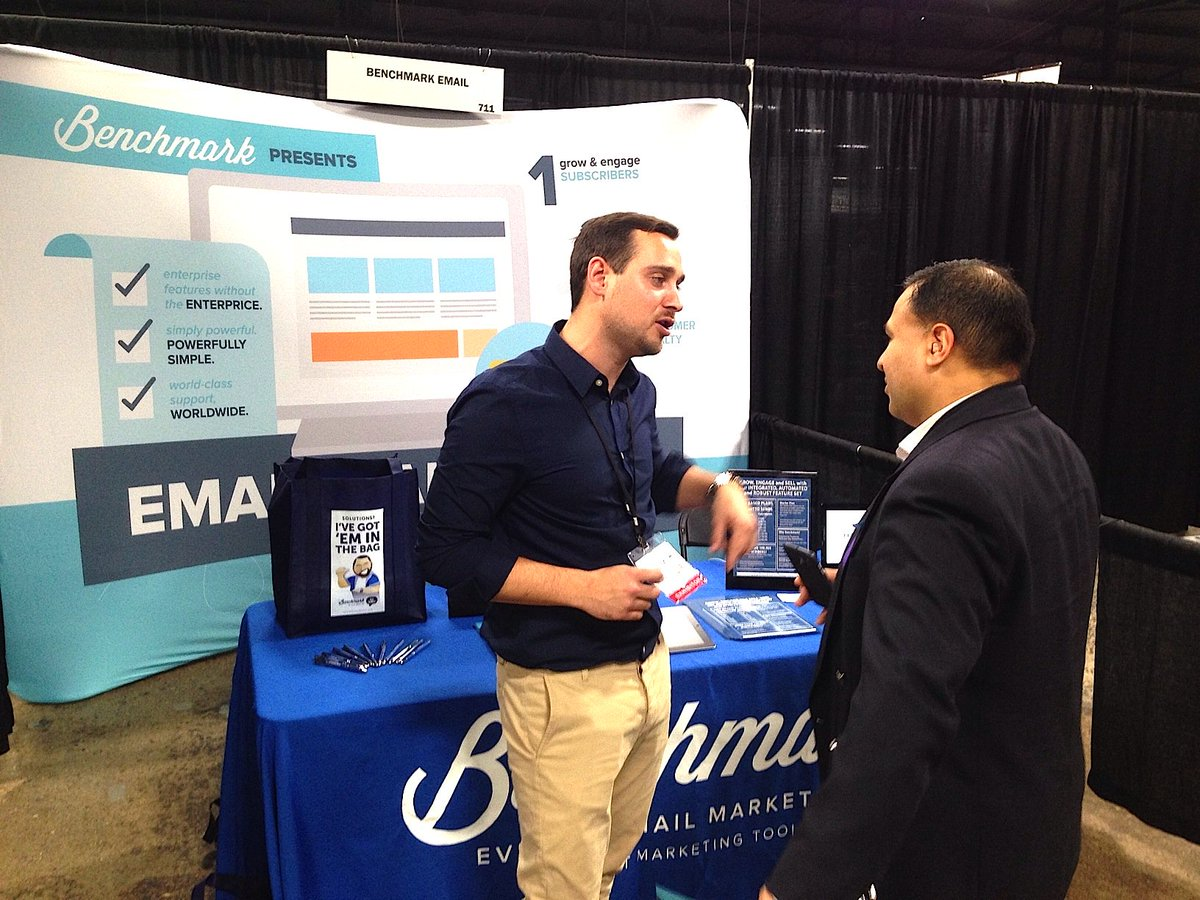 We love introducing Benchmark Email to all the attendees at the Philadelphia @TheBizExpo! #SmallBizExpo https://t.co/xiMtbjNCeR