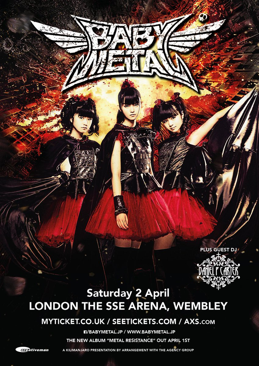 Extra standing tickets released for @BABYMETAL_JAPAN at @ssearena London next week! https://t.co/...