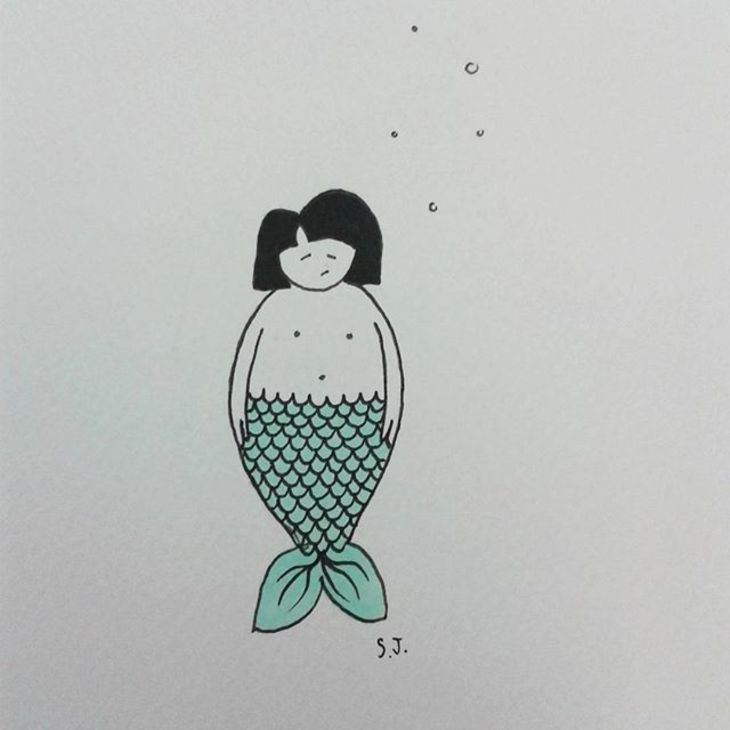 RT @hitRECord: This is probably the most relatable mermaid in mermaid history... https://t.co/10XuxumcDZ https://t.co/DZCyZeSeno