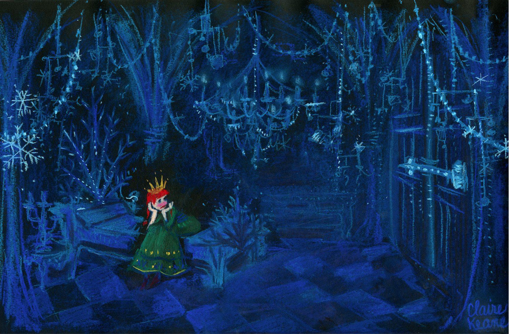 Anna locked in her room/prison in Elsa's ice castle // visual development for #Frozen https://t.co/J0fOVOnD1H