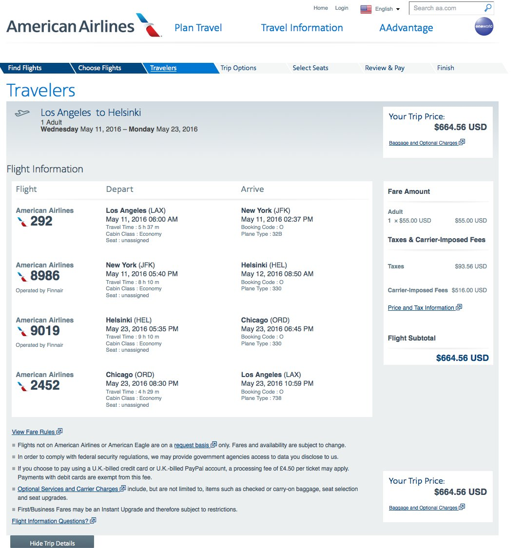 RT @airfarewatchdog: LAX to Helsinki HEL $665 round-trip on @AmericanAir for May travel