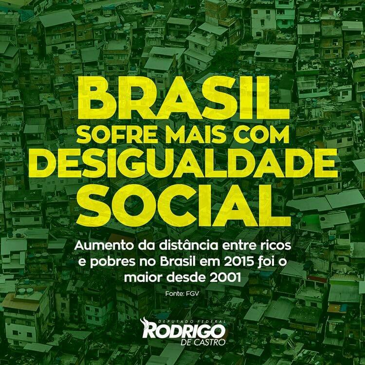 A pesquisa feita pela FGV indica que a desigualdade piorou com a queda na renda média dos brasileiros. #ForaDilma https://t.co/6AxY2lSaF5