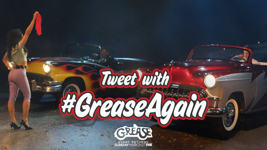 Watch Grease: Live! again this Sunday, March 27 on FOX! I'll be live tweeting! Join me using #GreaseAgain. https://t.co/qPj91qftP6