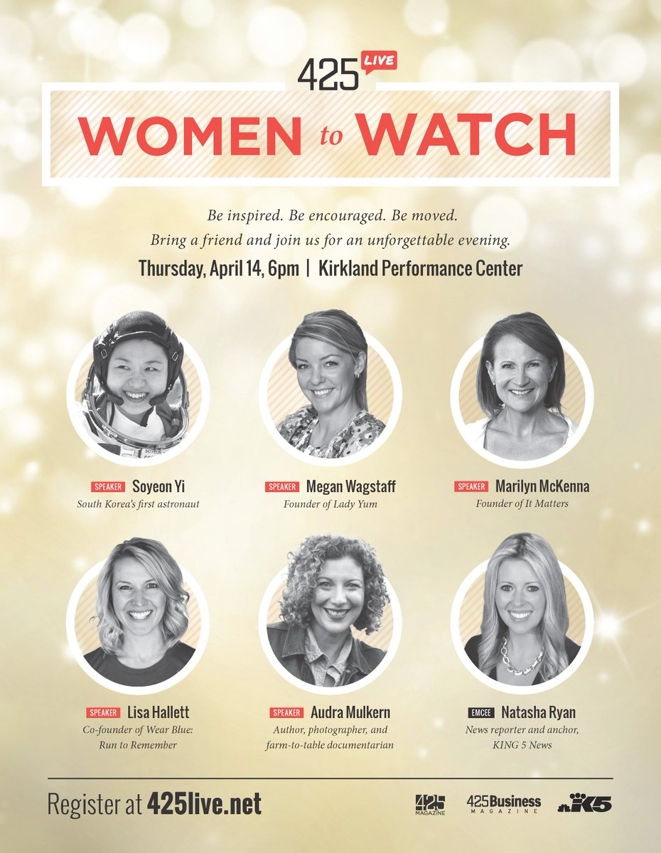 Meet 5 of the most influential women on the Eastside at #425Live Women To Watch on April 14: https://t.co/itPucOJEIo https://t.co/resBvNg7O6