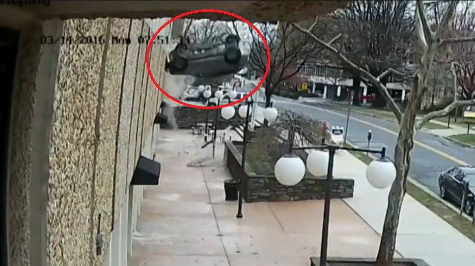 Watch Driver Crashes Through Maryland Parking Garage Wall Suv