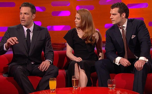 Henry Cavill, Ben Affleck and Amy Adams perfect their best Batman voices: