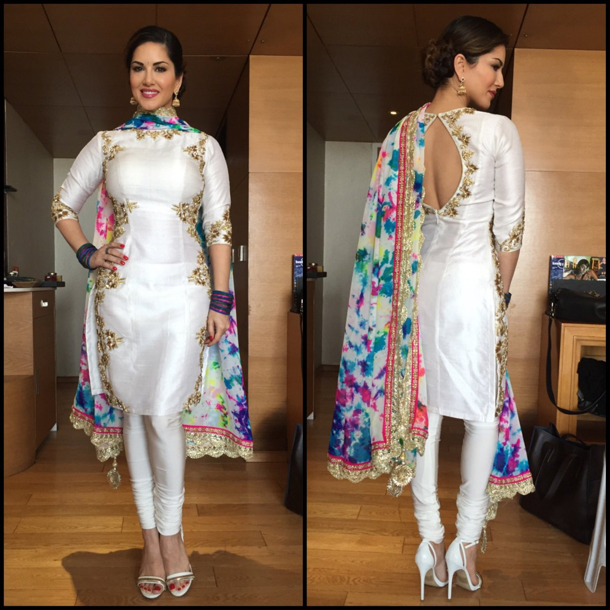 Thank you so much for this amazing Holi outfit and styling by love
