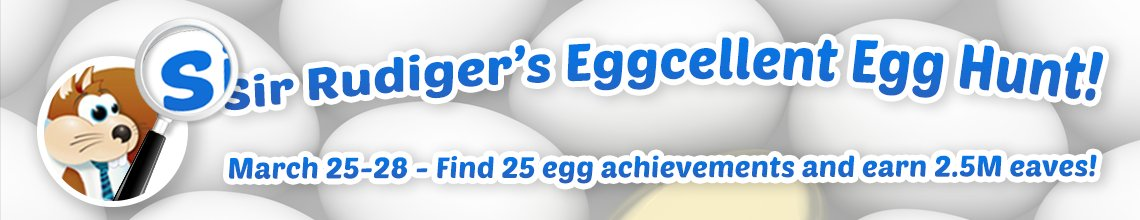 Sir Rudiger's Eggcellent Egg Hunt is underway! Join the hunt, throw eggs & play, play, play. https://t.co/wmQffIxLTl https://t.co/kDb0qzvYIr