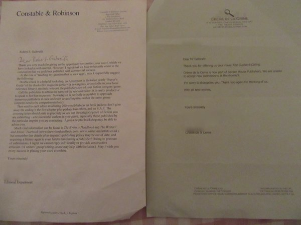 J.K. Rowling shares two of her rejection letters, and we should all be officially inspired: