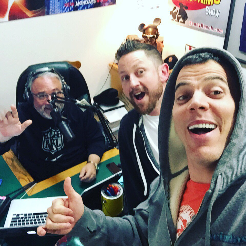 Selfie time with the funny @steveo on the @DonGeronimoShow. Check him out @PunchLineSac https://t.co/Ir9zZS5UOT https://t.co/coM0druVng
