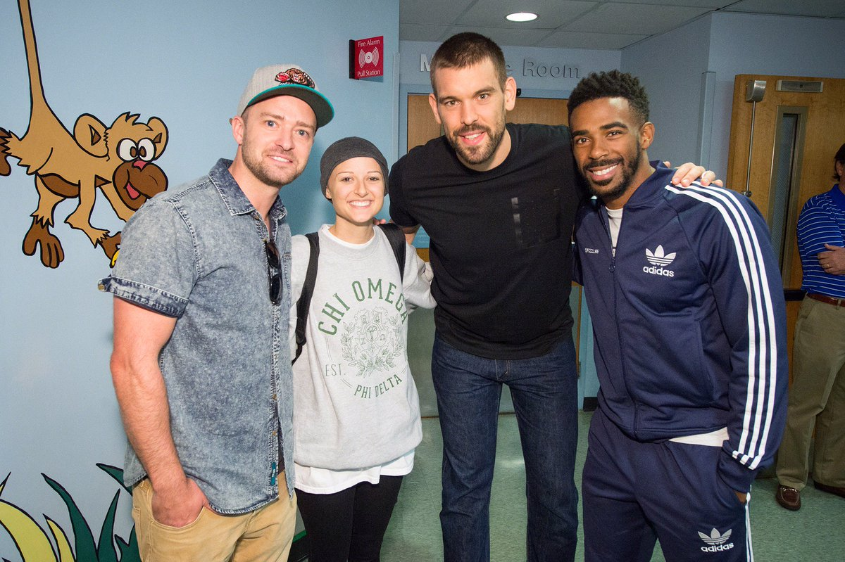 .@jtimberlake @MarcGasol & @mconley11 brought lots of smiles and support to @StJude this season! #Hoops4StJude https://t.co/Udv4R1NM2R