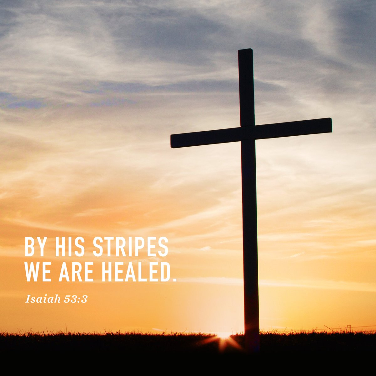 ... and by His stripes we are healed. Is 53:3 #GoodFriday https://t.co/RiezMYQrIz