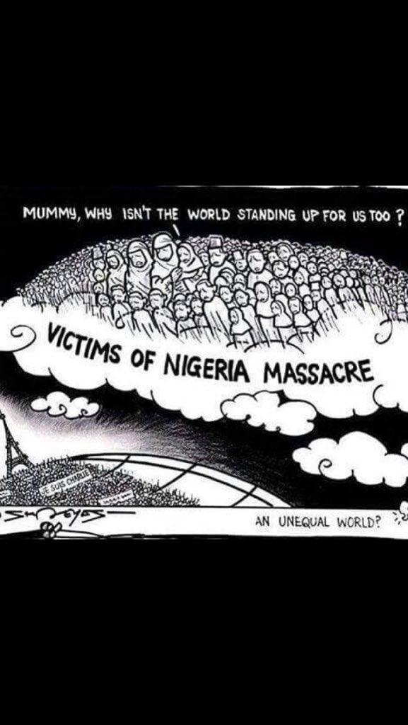 Este planeta no será habitable hasta que todas las vidas humanas valgan lo mismo #PrayForNigeria https://t.co/JpSXdtxdxl