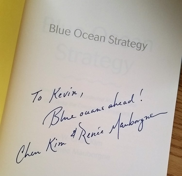 .@BlueOceanStrtgy authors sent me their new expanded book after learning I highly praise them in my book. Elated! https://t.co/PYXgnU8KZV