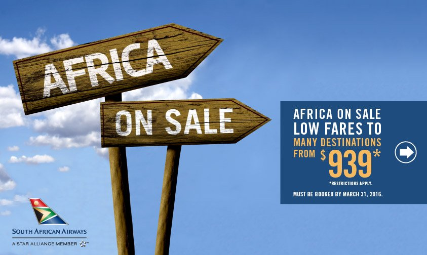Book your dream trip to Africa with our low fare sales happening now 👉