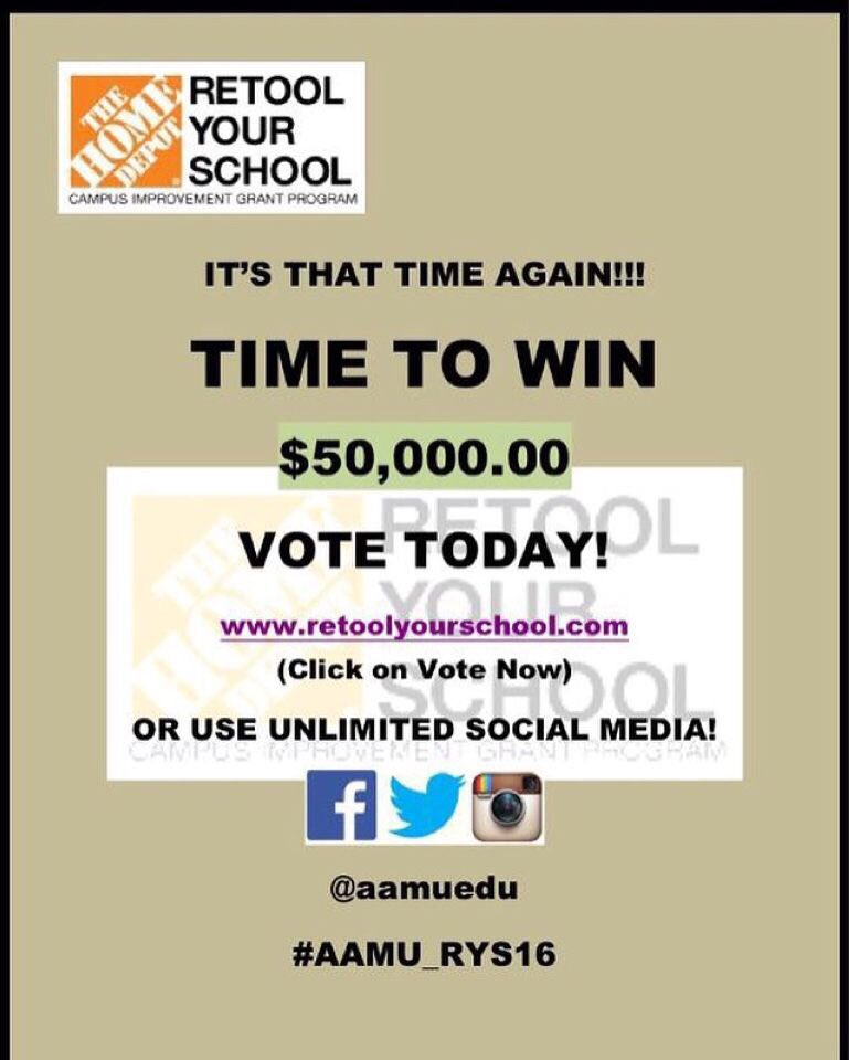 Help me as I help my daughter  @KaiKai_Sapp and the students at @aamuedu retool their school #retweet #AAMU_RYS16 https://t.co/cslrVPy3f6