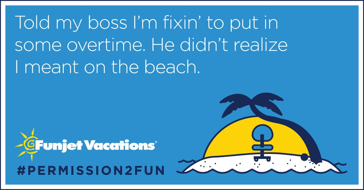 Week's almost over. Ready for #vacation? You have #Permission2Fun - RT for a chance to win a free trip! https://t.co/t3z9jSULXw