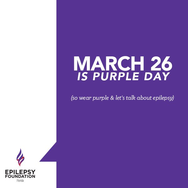 Tomorrow's the day! Support #EpilepsyAwareness by wearing PURPLE & letting people know why!  Let's break the stigma! https://t.co/59dH05XUK7