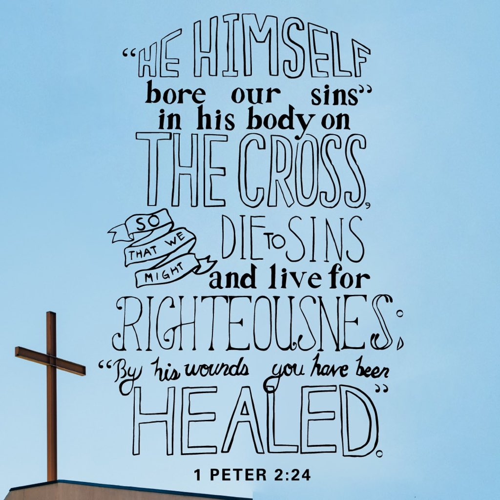 By His wounds you have been healed. #GoodFriday https://t.co/JQxv3KQDhZ