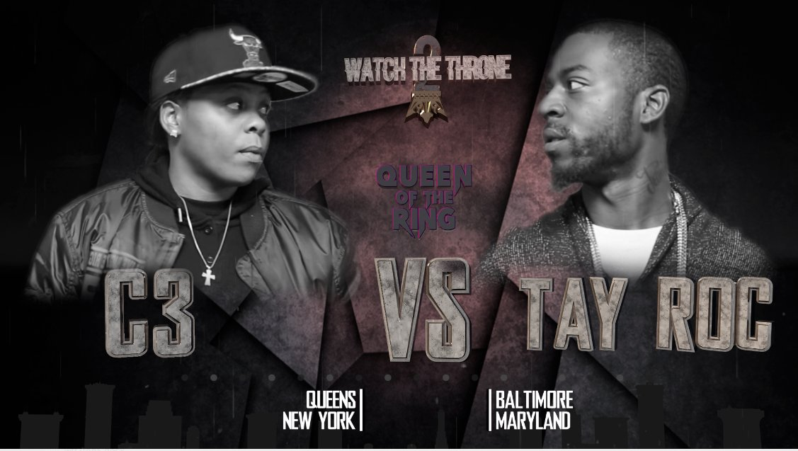 ATTENTION: RING HEADS!! WE'RE DROPPING @DaRealC3 VS @TheRealTayRoc TODAY 3PM est .. 1pm pst GET READY!!!! #QOTR  RT https://t.co/kULfYpWNc2
