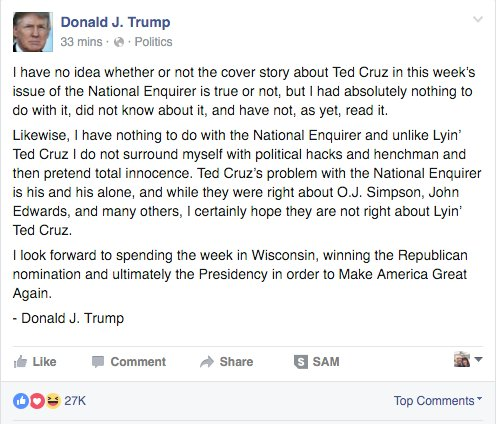 """""""...they were right about O.J. Simpson, John Edwards and many others."""" https://t.co/pNsfmI64Td #CruzSexScandal https://t.co/HsbMfoJp6v"""