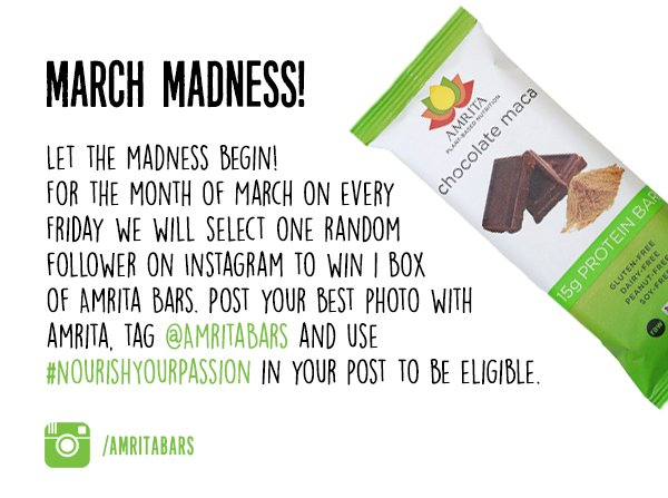 Join the #contest now and get to chance to win a box of Amrita bars of your choice! #vegan #giveaway #win #TGIF https://t.co/hVNvptHe5I