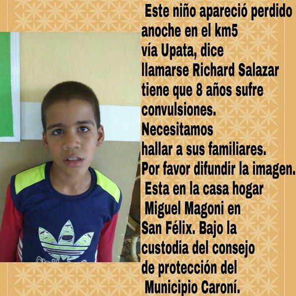 via @MamertoChang:  Ayudemos a difundir esta información. Gracias. https://t.co/vQoSH6Npc6 #Maracay