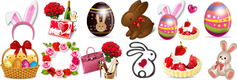 Send your bunny some sugar this weekend! Top 3 models with the most Easter themed virtual gifts will