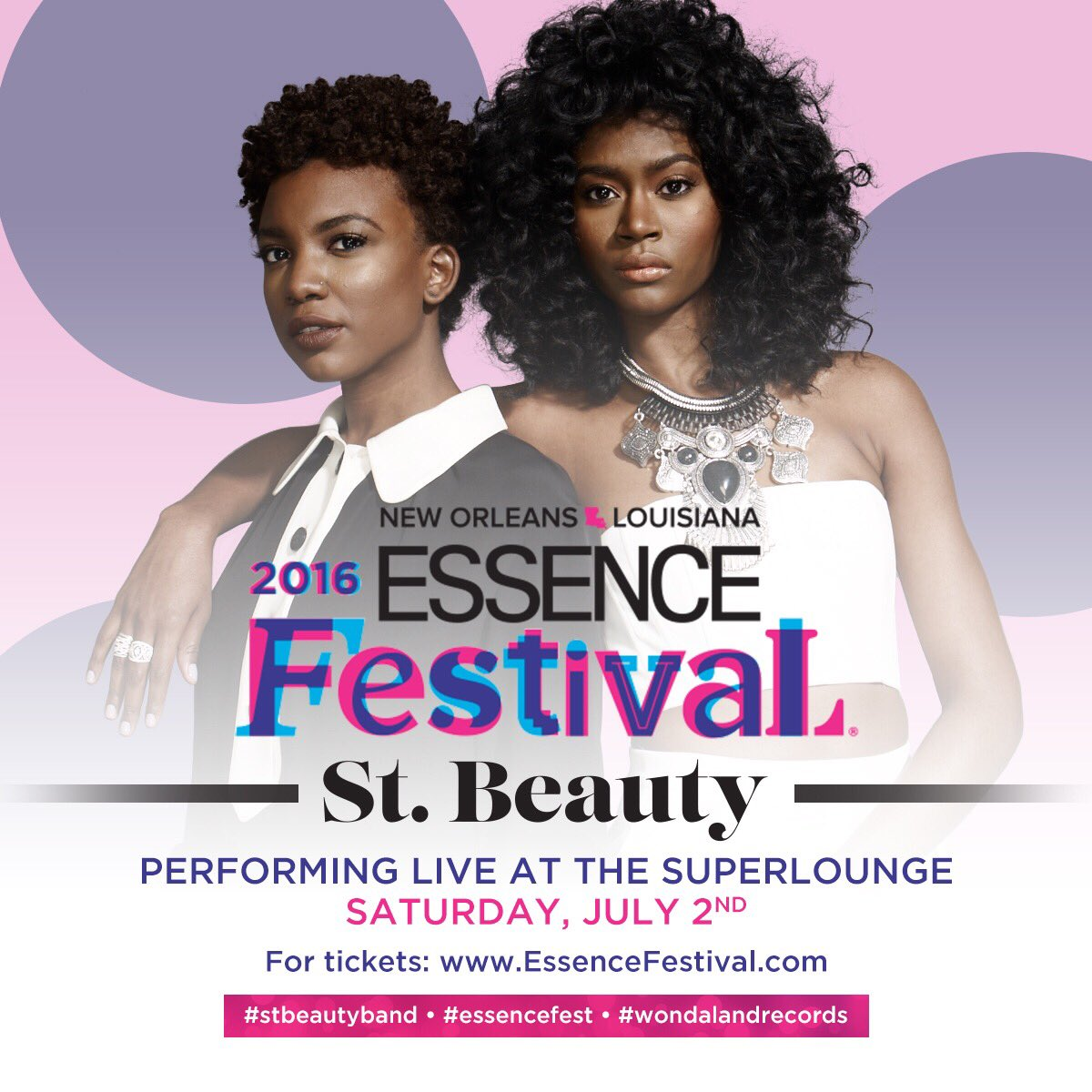 #BlackGirlMagic is coming to the 2016 @EssenceFest ! #StBeautyBand #EssenceFest #WondalandRecords https://t.co/TWMbVAUX8N