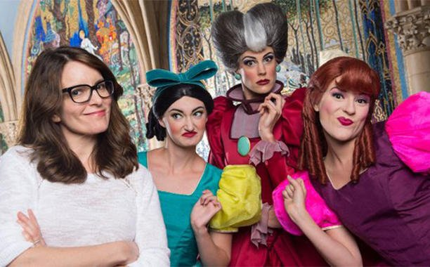 Tina Fey meets Cinderella's evil stepmother and stepsisters at Disneyworld: