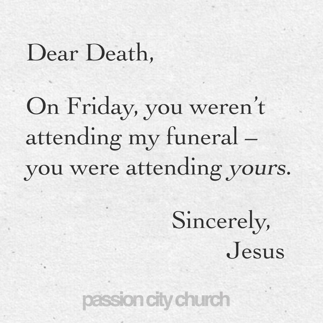 The death of death. Thank you Jesus. Jesus is life. #GoodFridayAtlanta https://t.co/YOcHR2rkYs