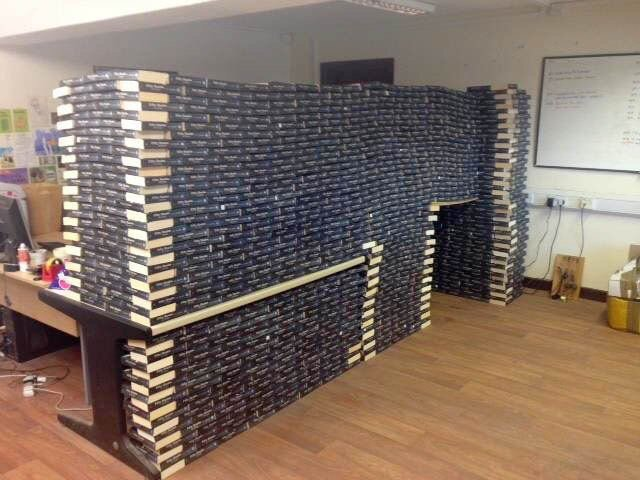 Oxfam store in Wales had so many Fifty Shades of Grey books donated they built a cabin out of them... https://t.co/xdBl7kiBRN