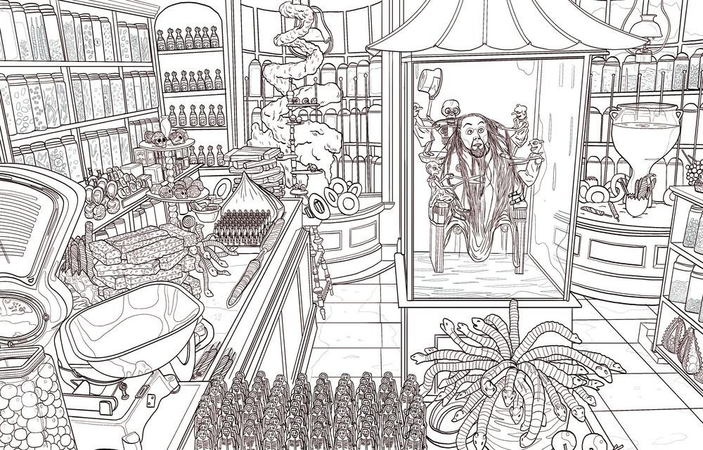 Diagon alley the great hall and other scenes featured in latest harry potter coloring book
