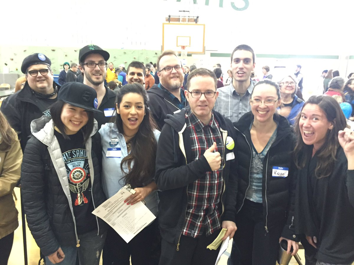 Sanders delegates, alternates (and fans) from precinct 36-2121 #WAcaucus https://t.co/ePy4ysgwT6