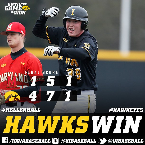 #Hawkeyes WIN game two... clinch series victory!  #Until https://t.co/G3lJpfgMEt
