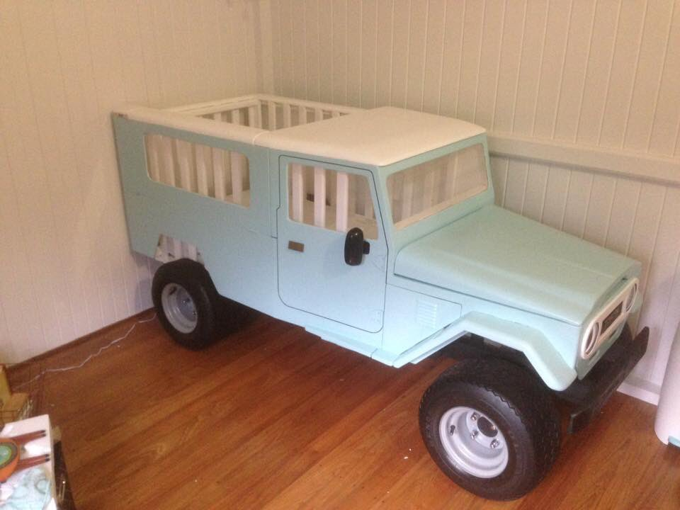 Give your baby the best start in life - a Land Cruiser cot.  Real thing made by Australian dad, Luke Madderom. https://t.co/0vrHvo86Zm