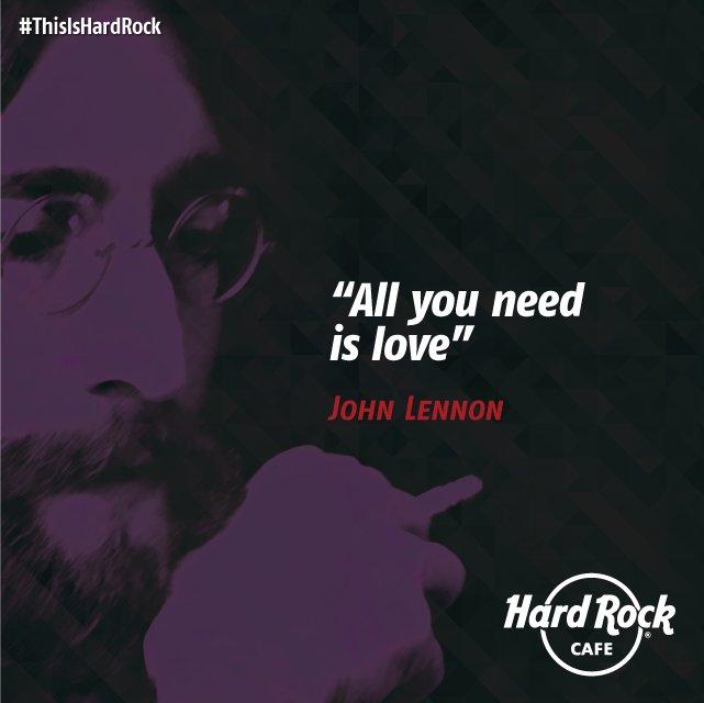 Para estos tiempos de reflexión y descanso lo único que necesitamos es amor. #JohnLennon #FraseDelDía https://t.co/qthoTdIy2H