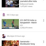 RT @rajavardhan7: #Blockbuster promo song trending at 4th place @YouTubeTrends  #Sarrainodu @MusicThaman https://t.co/8kzr7levCT https://…