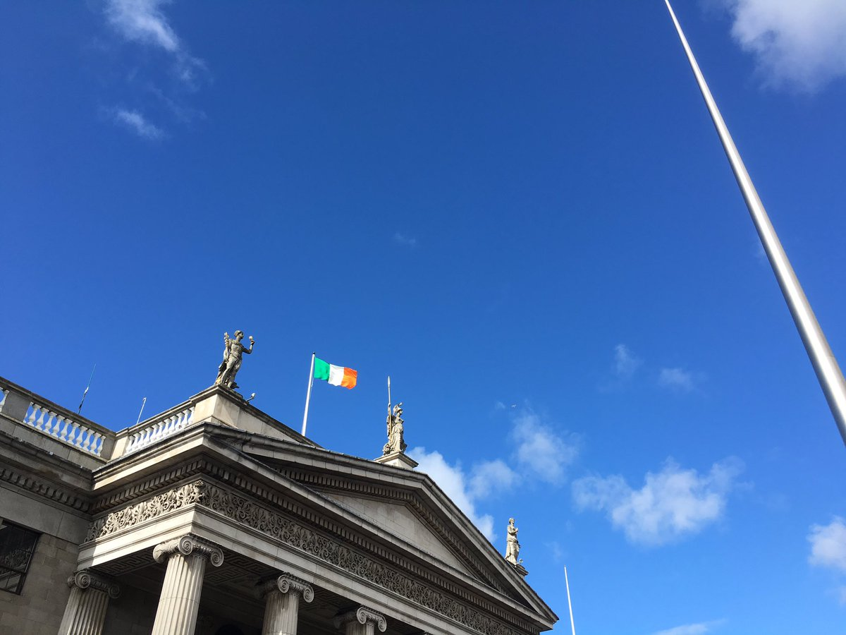 Flag returned to full mast at the GPO #Ireland2016 https://t.co/7T62RjH5nT