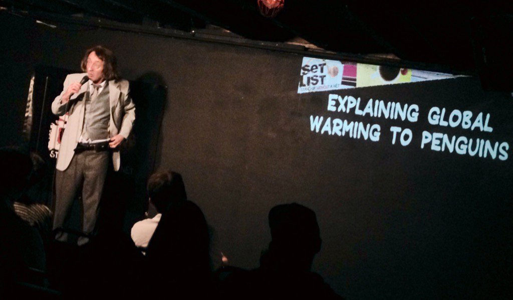 """Let's just say you can take off the little vests and bow ties now."" -- @EmoPhilips on @SETLISTSHOW at @NerdMelt #LA https://t.co/BNPKNOOGqG"