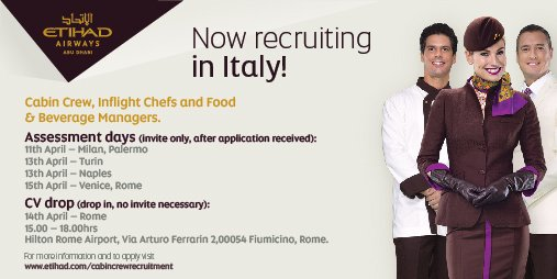 We're recruiting in Italy! Join our team based in sunny Abu Dhabi! Apply now: