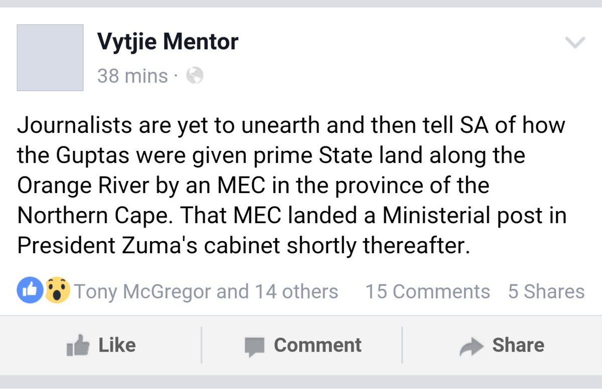 #VytjieMentor with a fresh one. I'll reserve my comments about the timing of all the skeletons tumbling out for now https://t.co/G9HyupVFxM